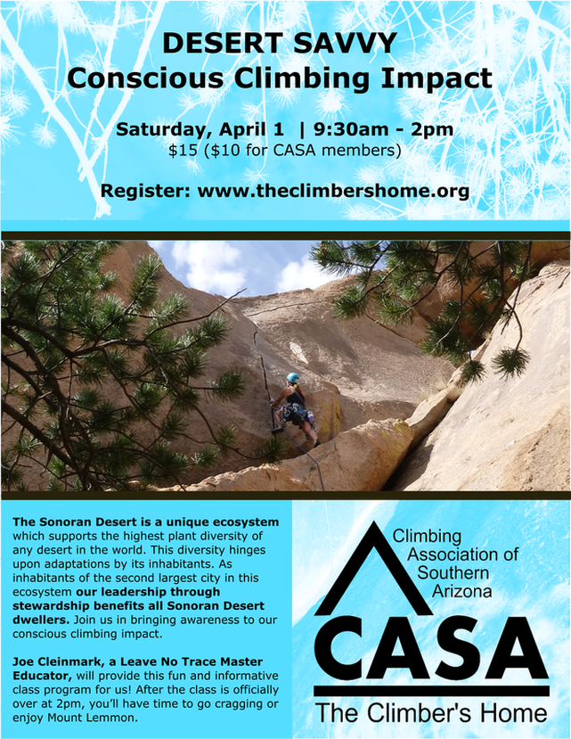 Register for the Conscious Climbing Impact class on April 1
